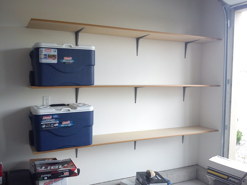 building wooden garage storage shelves